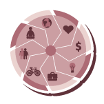 Wellness wheel icon
